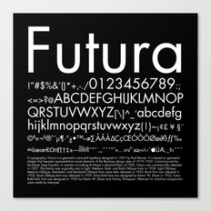 Futura (White) Canvas Print
