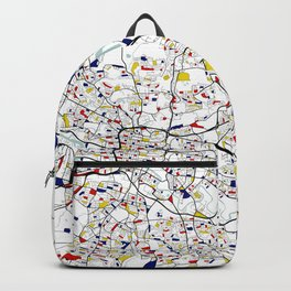 Glasgow City Map of Scotland - Mondrian Backpack