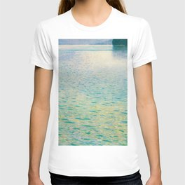 Island in the Attersee Gustav by Klimt Date 1902 // Abstract Oil Painting Water Horizon Scene T-shirt