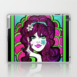 Psychedelic Flower Child Laptop & iPad Skin