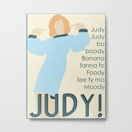 Judy Martin - Name Game w/Judy Lyrics Metal Print