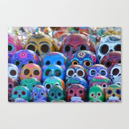 Calaveras Brillantes Canvas Print