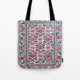 Shakhrisyabz Suzani Uzbekistan Embroidery Print Tote Bag
