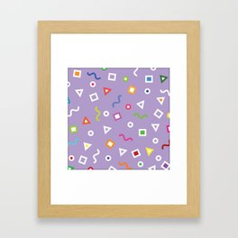 Lavender Play Framed Art Print