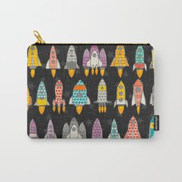 retro rockets graphite Carry-All Pouch