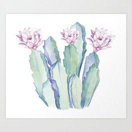 Cactus in Love Art Print