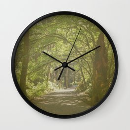 Tunnel of Trees Wall Clock