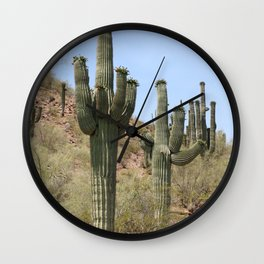 A Cacti in the Desert Wall Clock