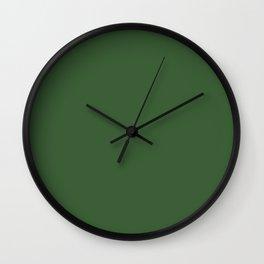 Kiss of Spring ~ Green Coordinating Solid Wall Clock