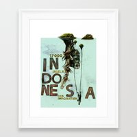 indonesia Framed Art Prints featuring Indonesia by Andreas Derebucha