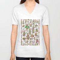 hamlet V-neck T-shirts featuring Crystal Hamlet by C86 | Matt Lyon