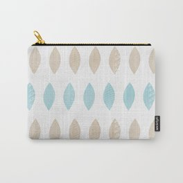Pastel leaves blue and tan palette Carry-All Pouch