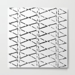 Triangle Texture Metal Print