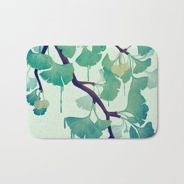 O Ginkgo (in Green) Bath Mat