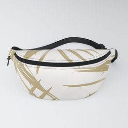 Gold Palm Leaves Dream #1 #tropical #decor #art #society6 Fanny Pack