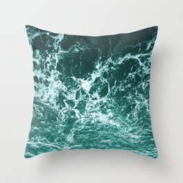 Upside Down Sea Water Splash Throw Pillow