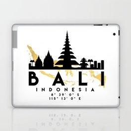 BALI INDONESIA SILHOUETTE SKYLINE MAP ART Laptop & iPad Skin