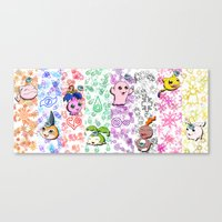 digimon Canvas Prints featuring Digimon 15th Anniversary by AbigailC