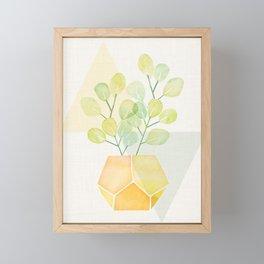House Plant on Geometric Abstract Framed Mini Art Print