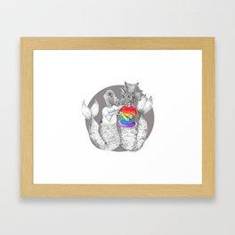 Pride BFF's #mermasaur Framed Art Print