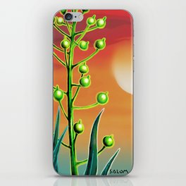 Wild plant at sunset iPhone Skin