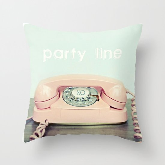 Party Line Throw Pillow