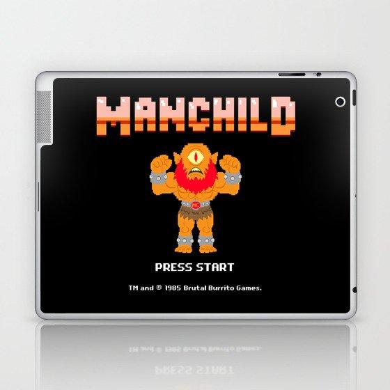 8Bit Manchild Laptop & iPad Skin