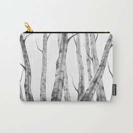 Birch Tree   Watercolour   Painting   black-and-white   Black and White   Minimalism Carry-All Pouch