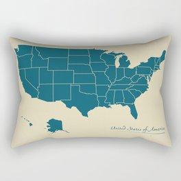 Modern Map - United States of America USA Rectangular Pillow