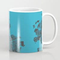rio Mugs featuring Rio by Map Map Maps