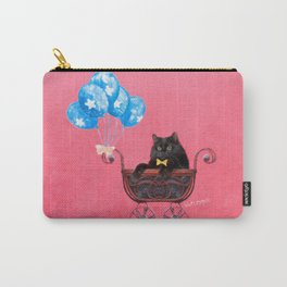 Cat in a Pram Carry-All Pouch
