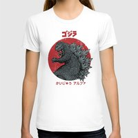 kaiju T-shirts featuring Gojira Kaiju Alpha by pigboom el crapo