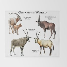 Oryx of the World Throw Blanket