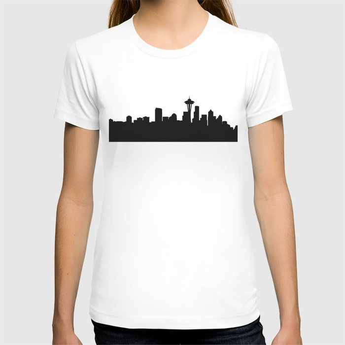 seattle cityscape silhouete T-shirt