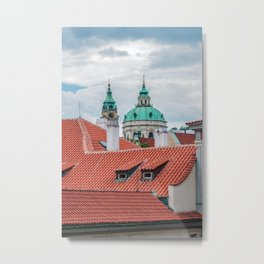 St. Nicholas church and roofs of Prague Metal Print