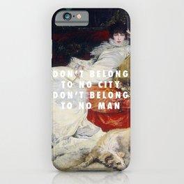 Georges Clairin, Portrait of Sarah Bernhardt (1876) / Halsey, Hurricane (2014) iPhone Case