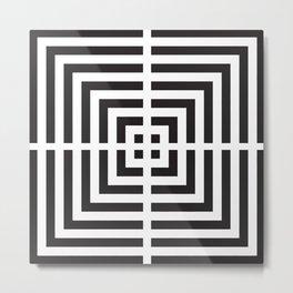 Scuares Decorative Black & White 4 Metal Print