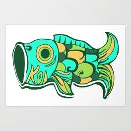 BLUE KOI FISH Art Print