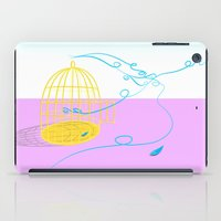 cage iPad Cases featuring Bird cage by Elisa Rosa