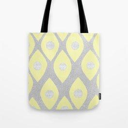 Eye Pattern Yellow Tote Bag