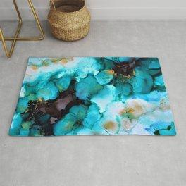 Turquoise Borealis Rug