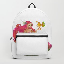 Pink Mermaid Backpack