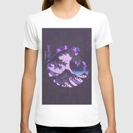 The Great Wave off Kanagawa Black and Purple T-shirt