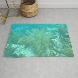 Watercolor Seascape, St John 07, USVI Rug