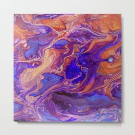 Fluid Color Metal Print