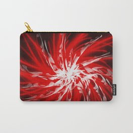 Dark Red Organic Spiral Carry-All Pouch