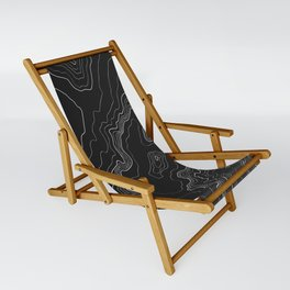 Black & White Topography map Sling Chair