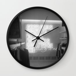 Good girls want to be bad Wall Clock