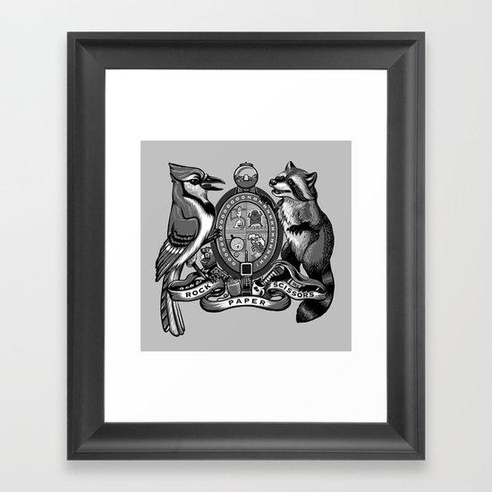 Regular Crest Framed Art Print
