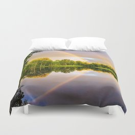 Rainbows: The gift from heaven to us all Duvet Cover